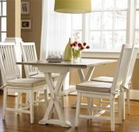 Coastal Beach White Drop Leaf Kitchen Console Table | Zin Home