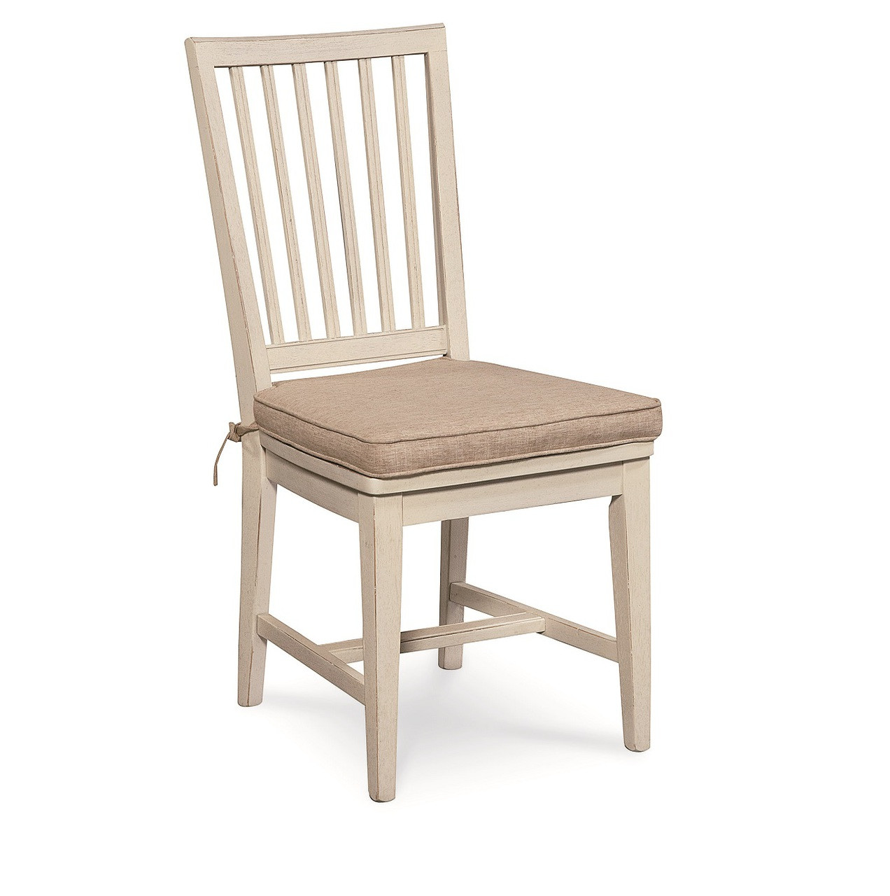 Beach Dining Chairs Coastal Beach White Dining Side Chair With Cushion Zin Home