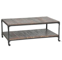 Flynn Wood and Iron Coffee Table