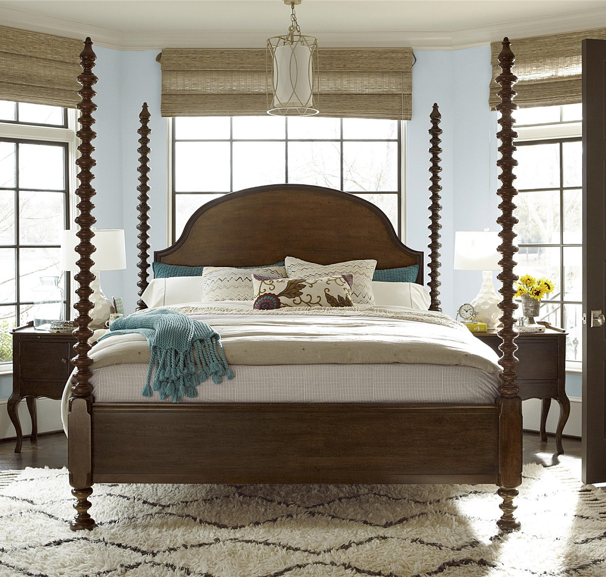 Sonoma Four Poster King Bedroom Set Zin Home
