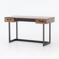 Anderson Industrial Rustic Oak Wood and Metal Writing Desk ...