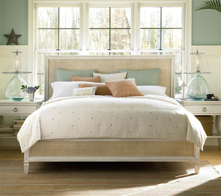 CountryChic Woven Rattan Panel Bed Frame  Zin Home