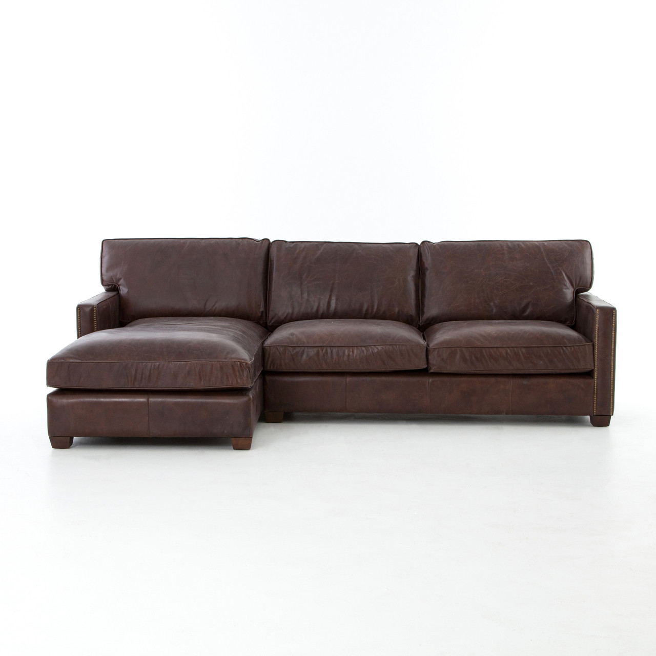 vintage leather sectional sofa wooden set designs with low price larkin cigar chaise