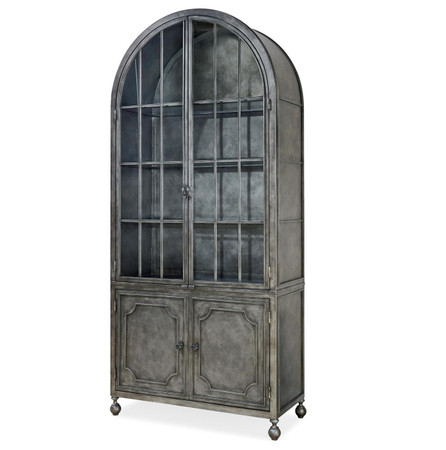 farmhouse dining chairs desk chair carpet maison french industrial metal curio display cabinet | zin home