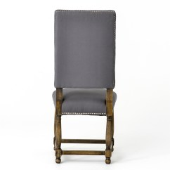 Dining Chair Covers In Spanish Cute Office Chairs Grey Cotton Upholstered High Back