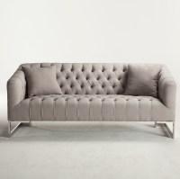 Austin Modern Tufted Sofa - Grey   Zin Home