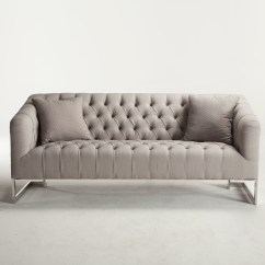 Average Weight Of A Large Sofa Havertys Leather Bed Austin Modern Tufted Grey Zin Home