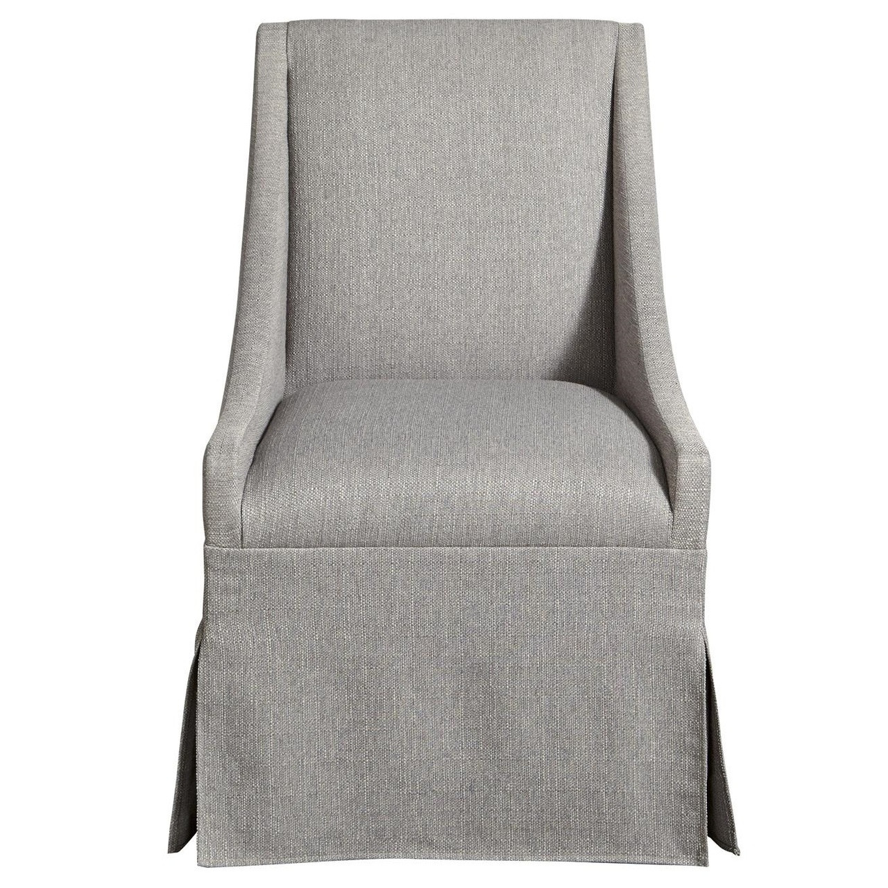 bedroom chair with skirt wedding covers rentals seattle townsend modern grey upholstered skirted dining
