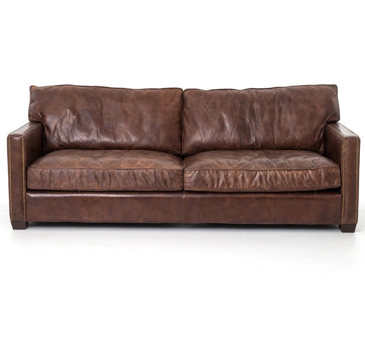 pee kensington leather sofa cheap grey rattan corner cigar odelia vintage sofas