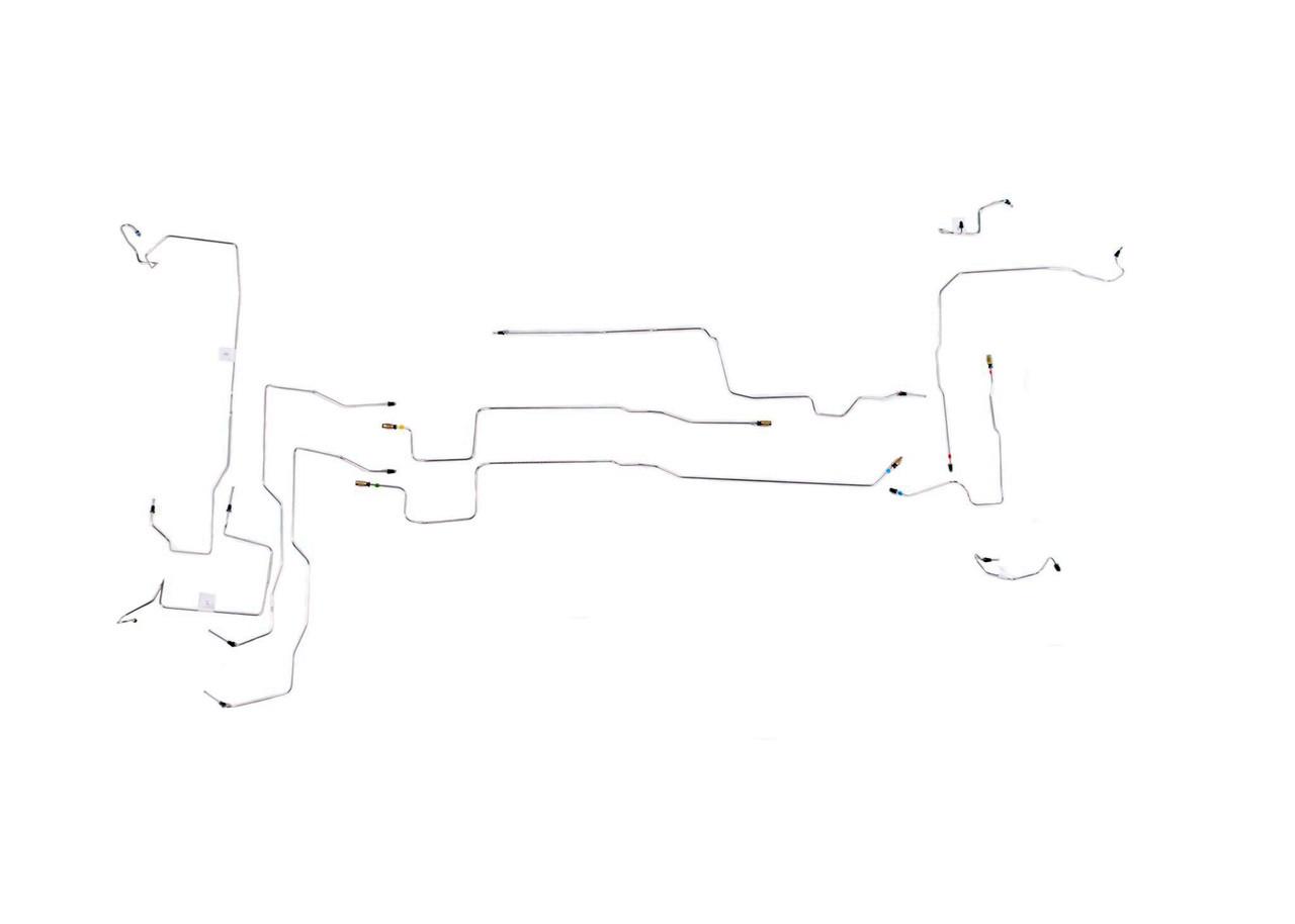 medium resolution of aveo brake line 2004 w o abs stainless steel set