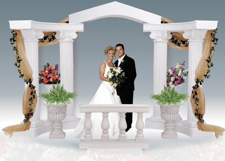 chair covers for white folding chairs zane classic graeco-roman style colonnade arch - wholesale event solutions