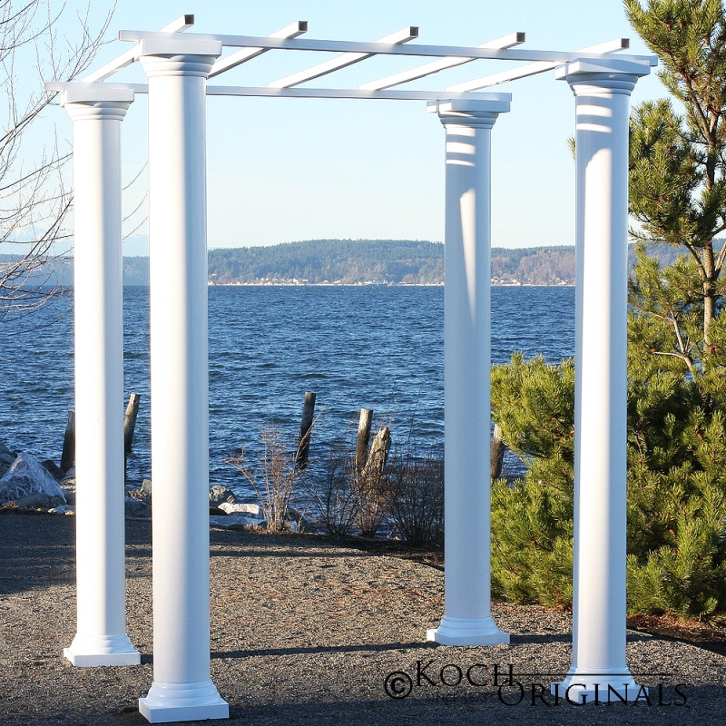 banquet chair covers cheap office best roman wedding gazebo with four 8 foot columns - wholesale event solutions