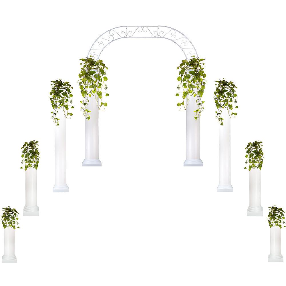 Starter Wedding Package  Roman Columns  Wedding Arch