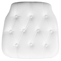Wholesale Chair Cushions Cheap Kitchen Table And Chairs Hard White Tufted Vinyl Chiavari Cushion For Crystal Resin Loading Zoom