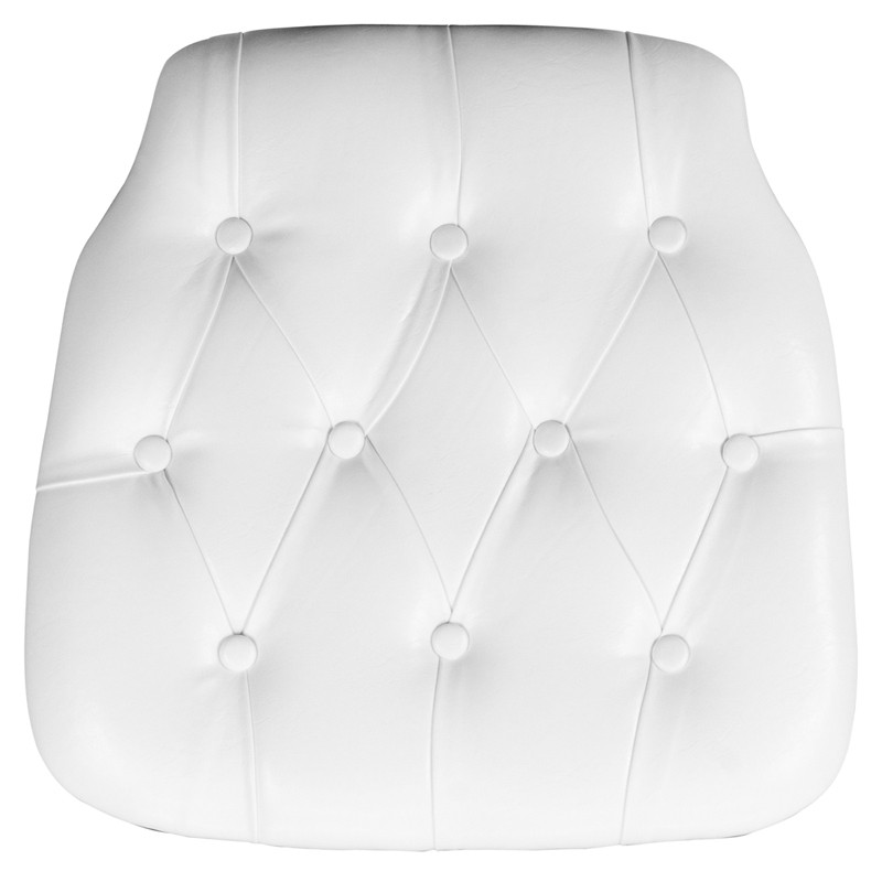 white tufted chairs west elm outdoor hard vinyl chiavari chair cushion for crystal resin loading zoom