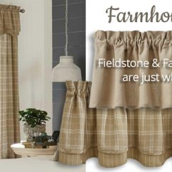 Country Curtains For Living Room Upholstered Armchairs Farmhouse Village Shoppe