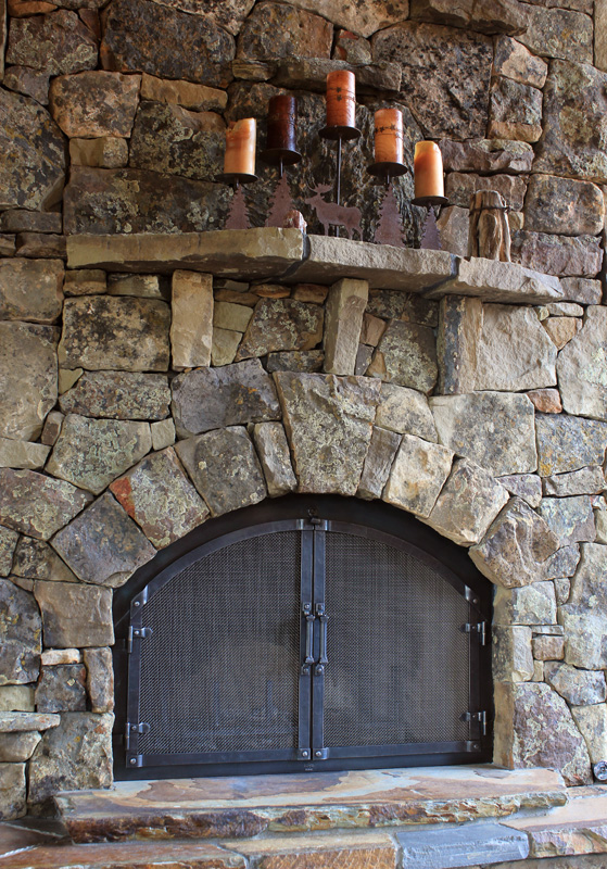 Fireplace Lighting A Gas Fireplace Custom Wrought Iron Fireplace Door Gallery | Ponderosa