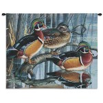 Pure Country Weavers Backwater Woodies Wood Duck Decor Hand Finished European Style Jacquard Woven Wall Tapestry Usa 26x34