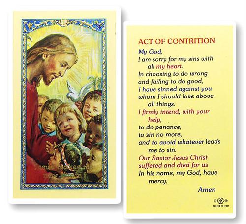 Act Of Contrition Prayer Card St Jude Shop Inc
