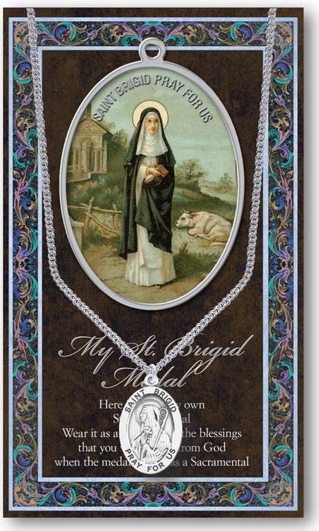St Brigid Prayer Card And Pewter Medal St Jude Shop Inc