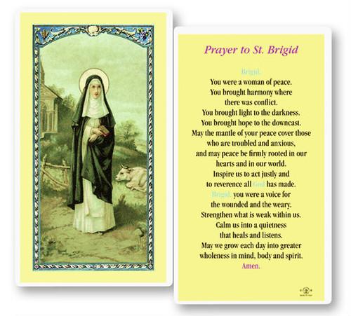 Prayer To St Brigid Laminated Holy Card St Jude Shop