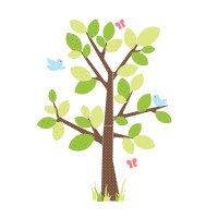 Kids Tree Wall Stickers - Roommates