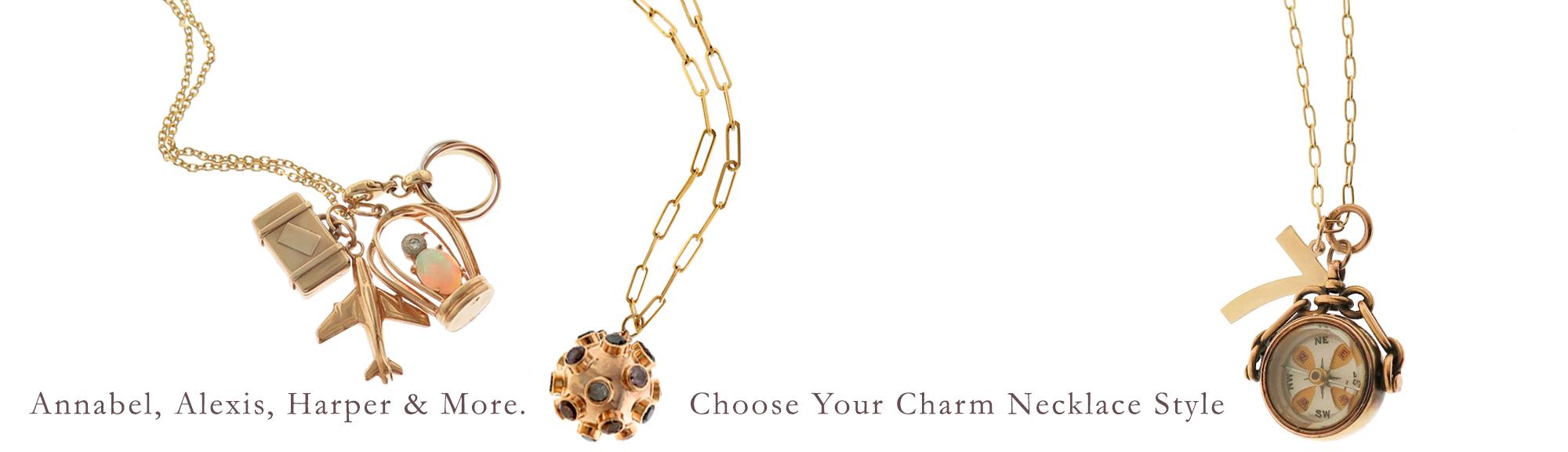 charm necklaces 14k charm