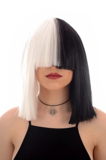 sia black white wig in stock