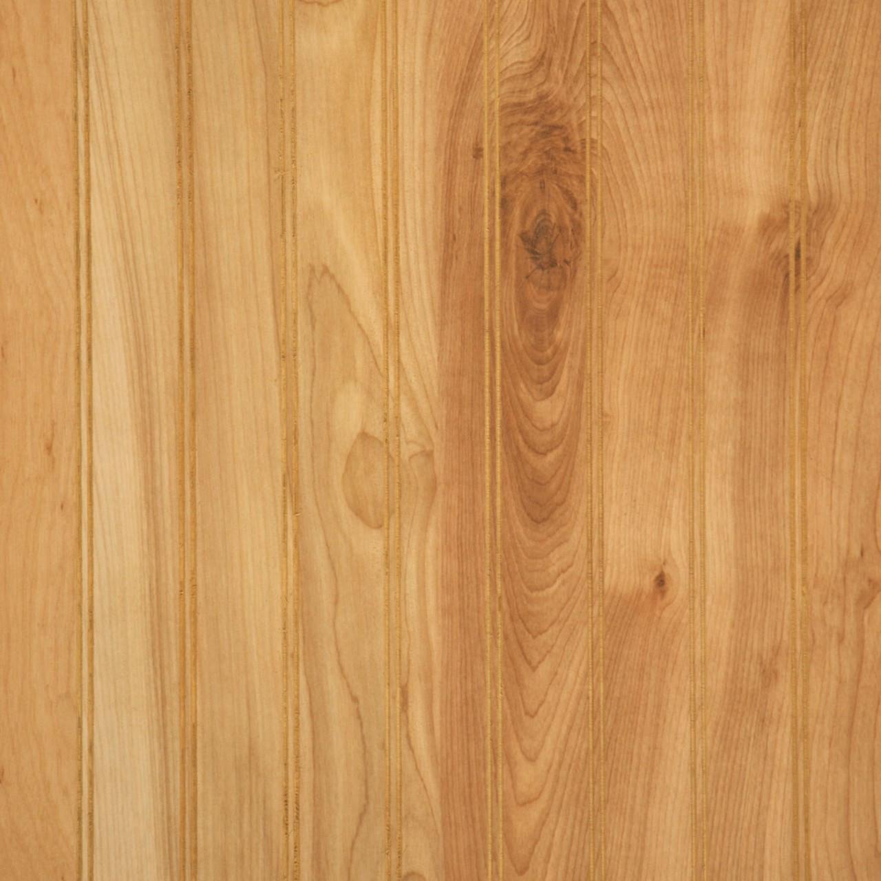 Natural Birch Beadboard Paneling  Woodgrain Finish Panels