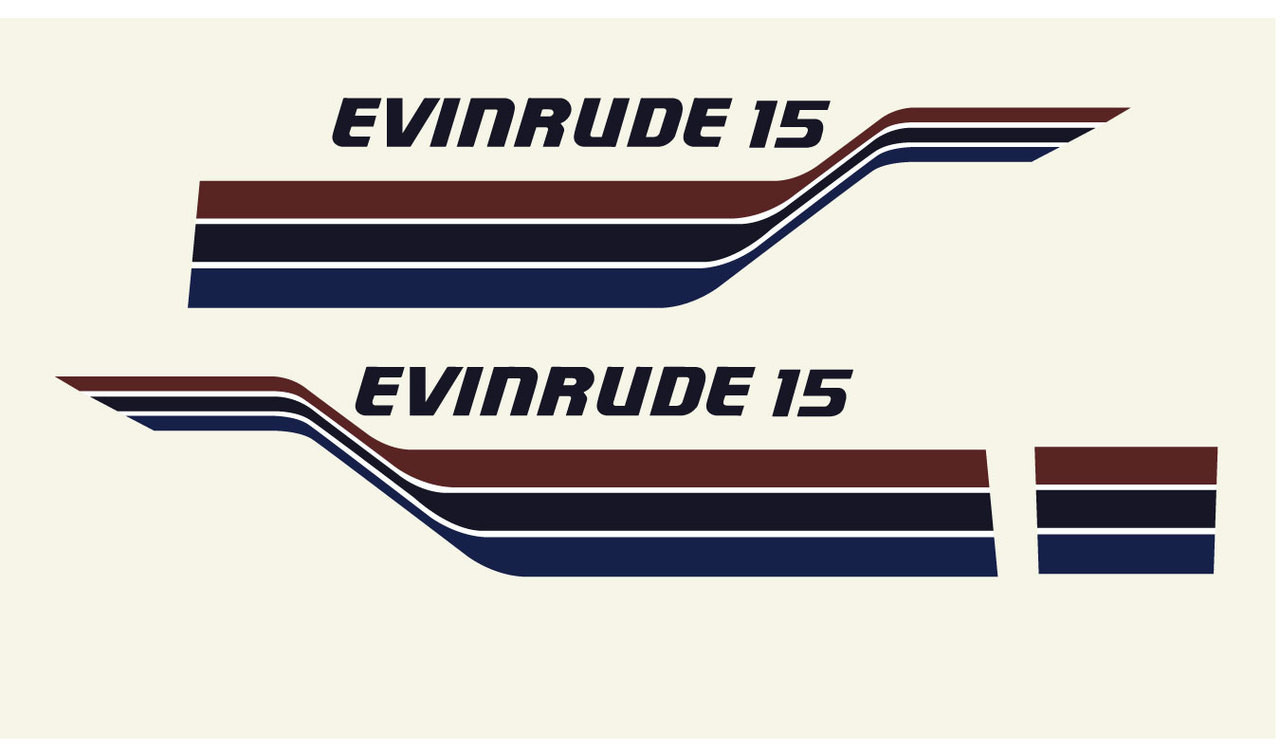 evinrude 15hp outboard engine decals price 40 00 image 1 [ 1280 x 751 Pixel ]