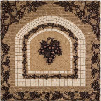 grape mosaic tile backsplash medallion 24 x 24