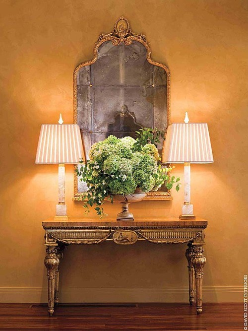 Zillow's Dig This Trend: French Flair gilded mirror entryway