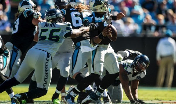 Seattle Seahawks take on the Carolina Panthers in divisional round of the 2015 NFL playoffs