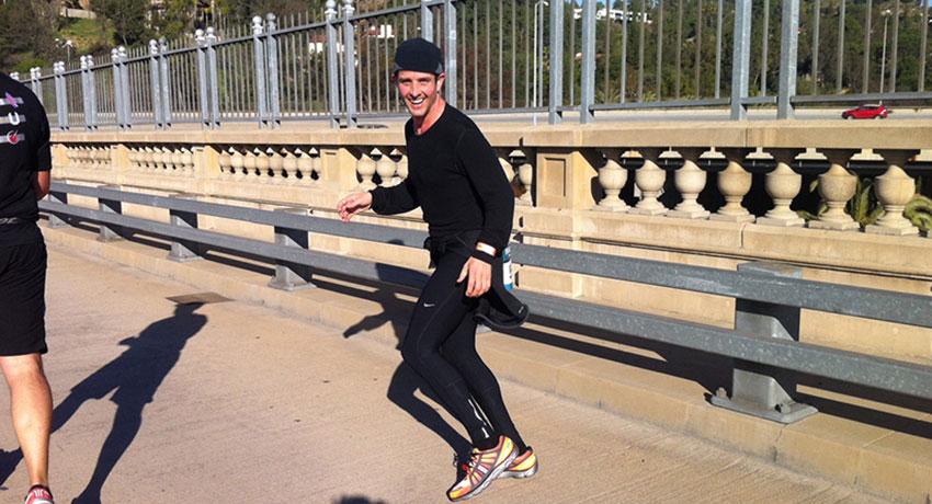 Joey McIntyre running