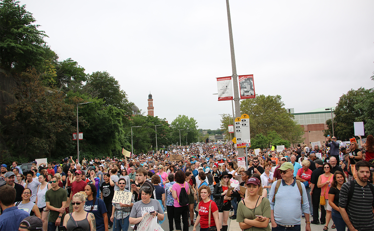 Image result for photos of boston rally on 8/19/17