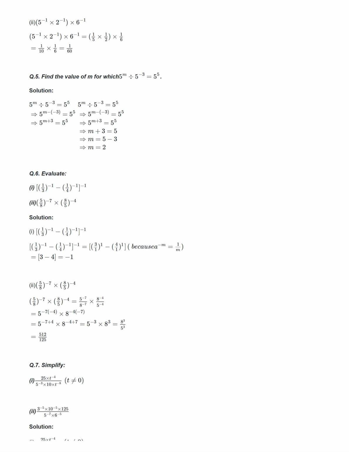 Ncert Solutions For Class 8 Maths Chapter 12 Exponents And Powers Ex 12 1