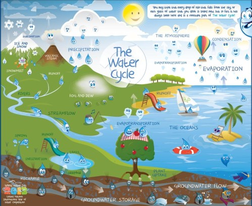 small resolution of water cycle description and processes involved
