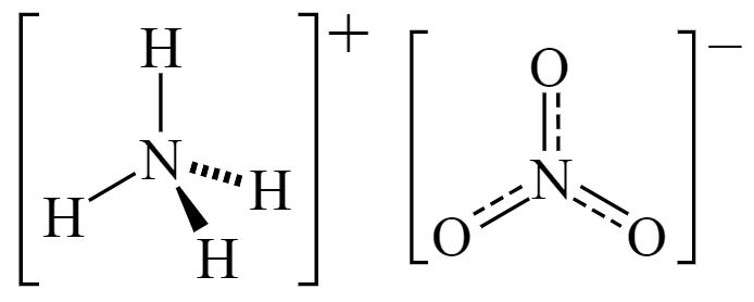 Balanced Equation For Ammonium Nitrate Dissolved In Water