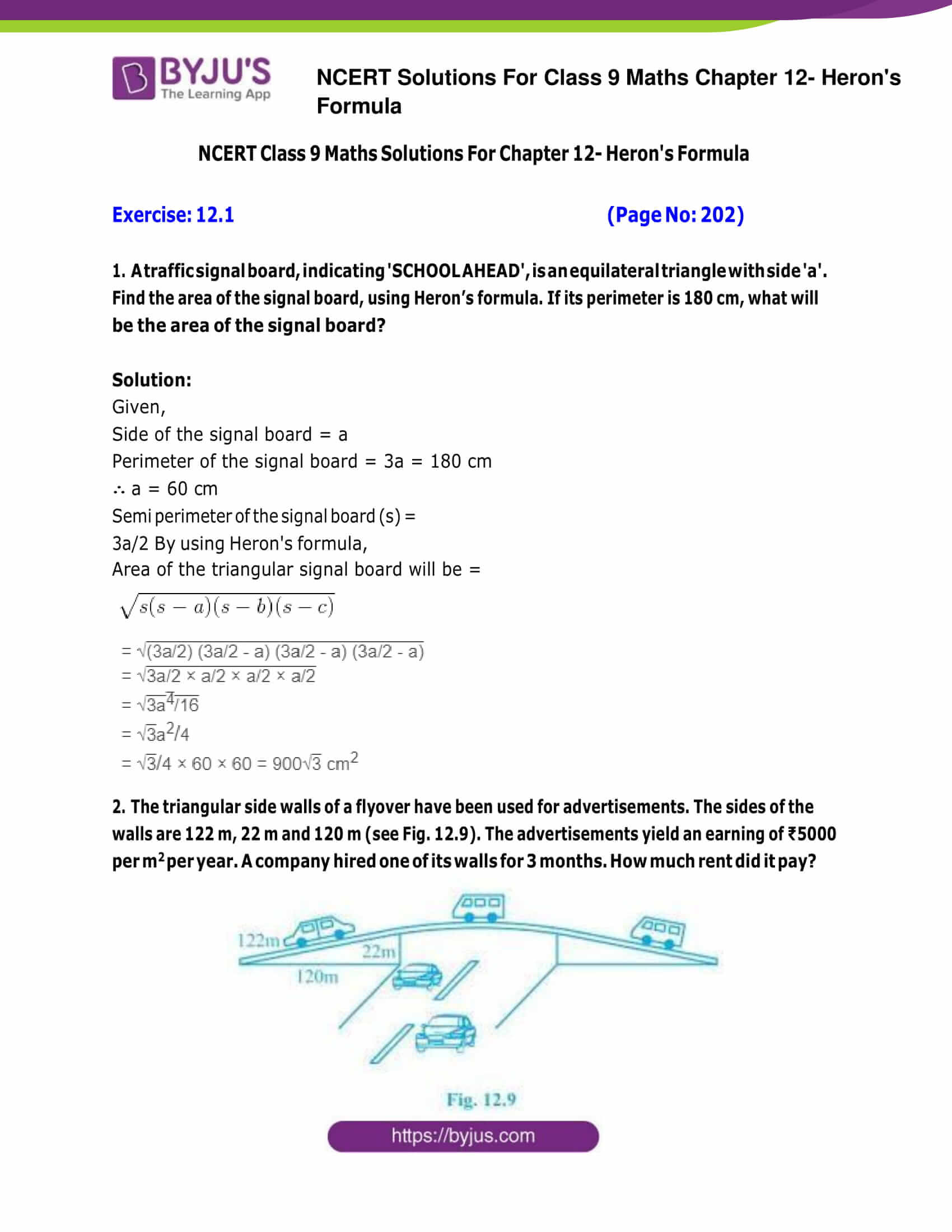 Ncert Solutions For Class 9 Maths Exercise 12 1 Chapter 12