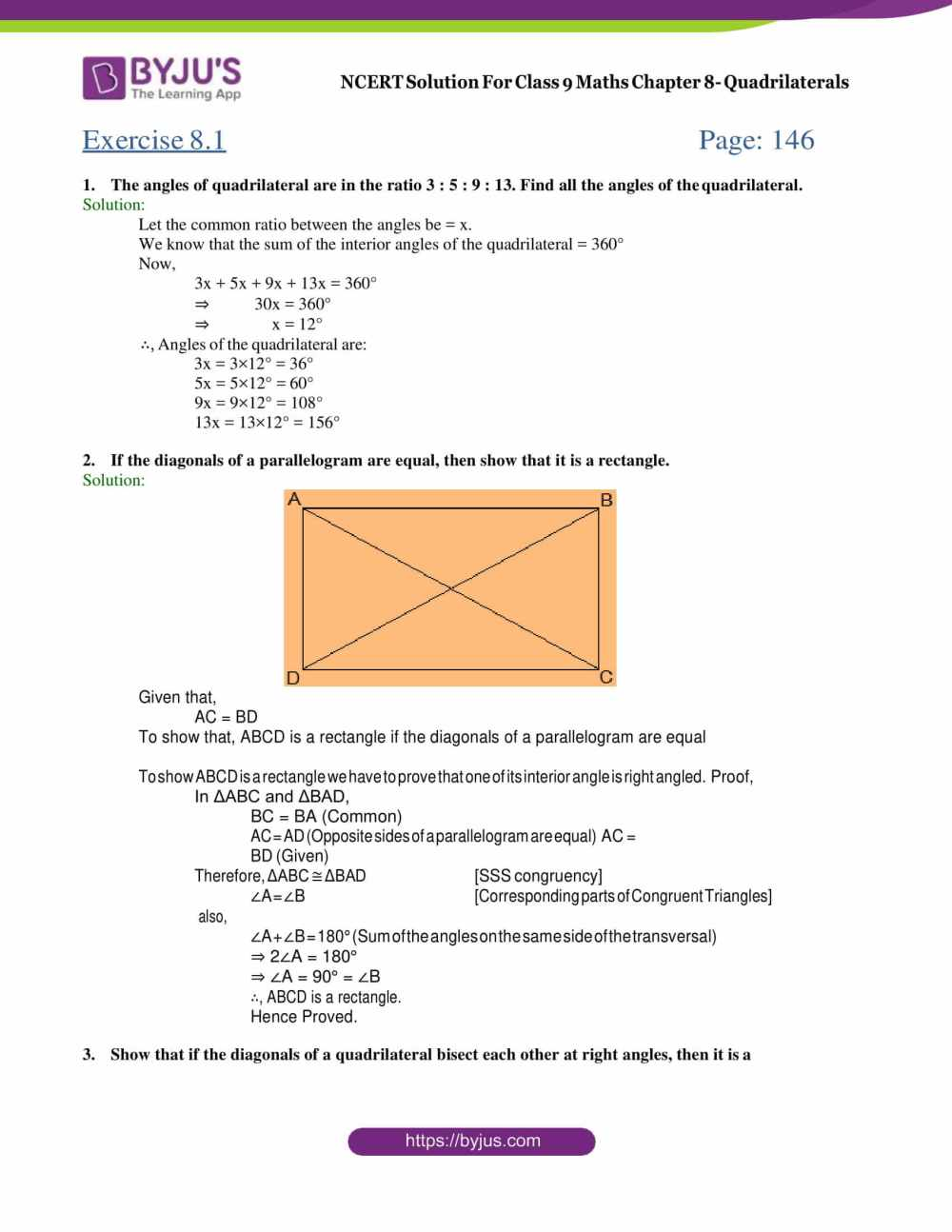 medium resolution of Maths Ncert Grade 9 Triangles Worksheets   Printable Worksheets and  Activities for Teachers