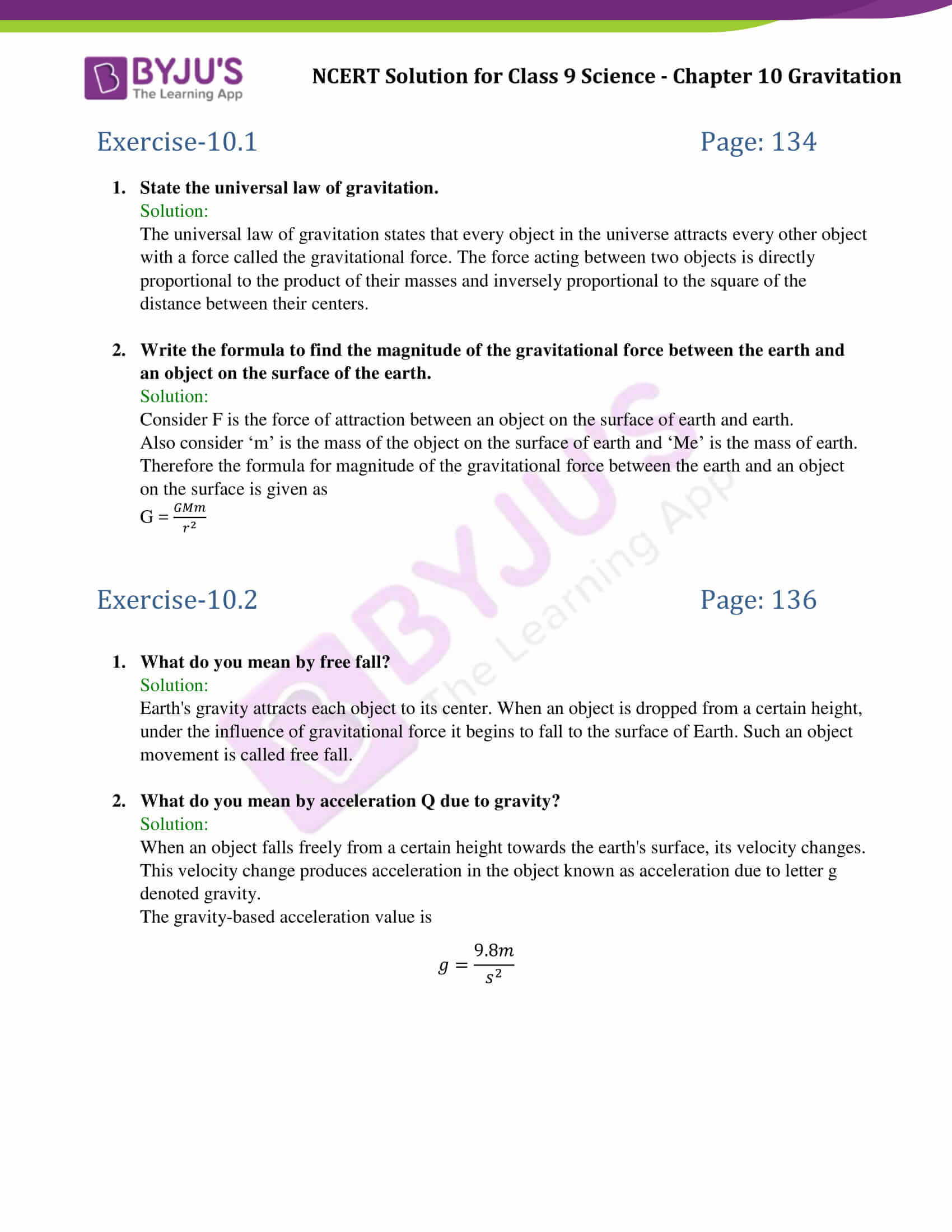 Chapter 13 Universal Gravitation Worksheet Answers