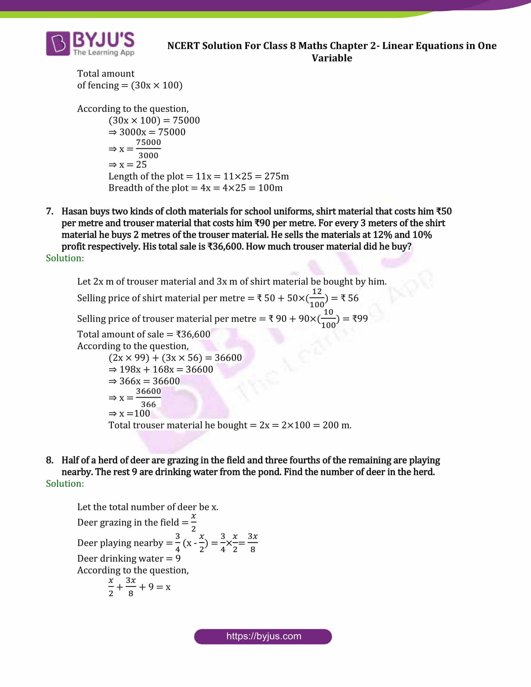 Ncert Solutions For Class 8 Maths Exercise 2 4 Chapter 2