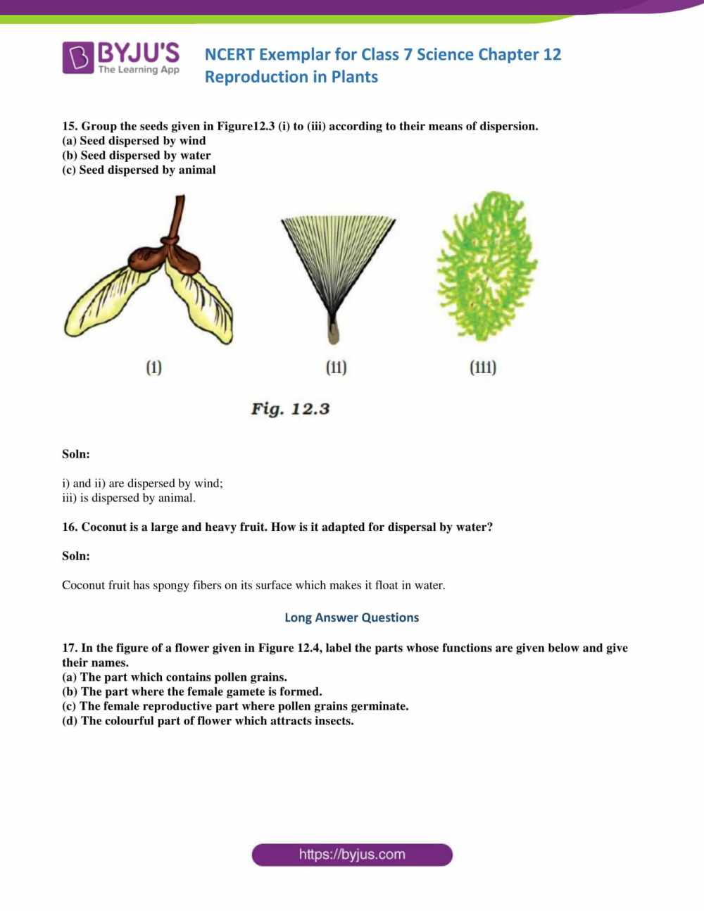 medium resolution of NCERT Exemplar solutions for Class 7 Science Chapter 12 - Reproduction in  Plants