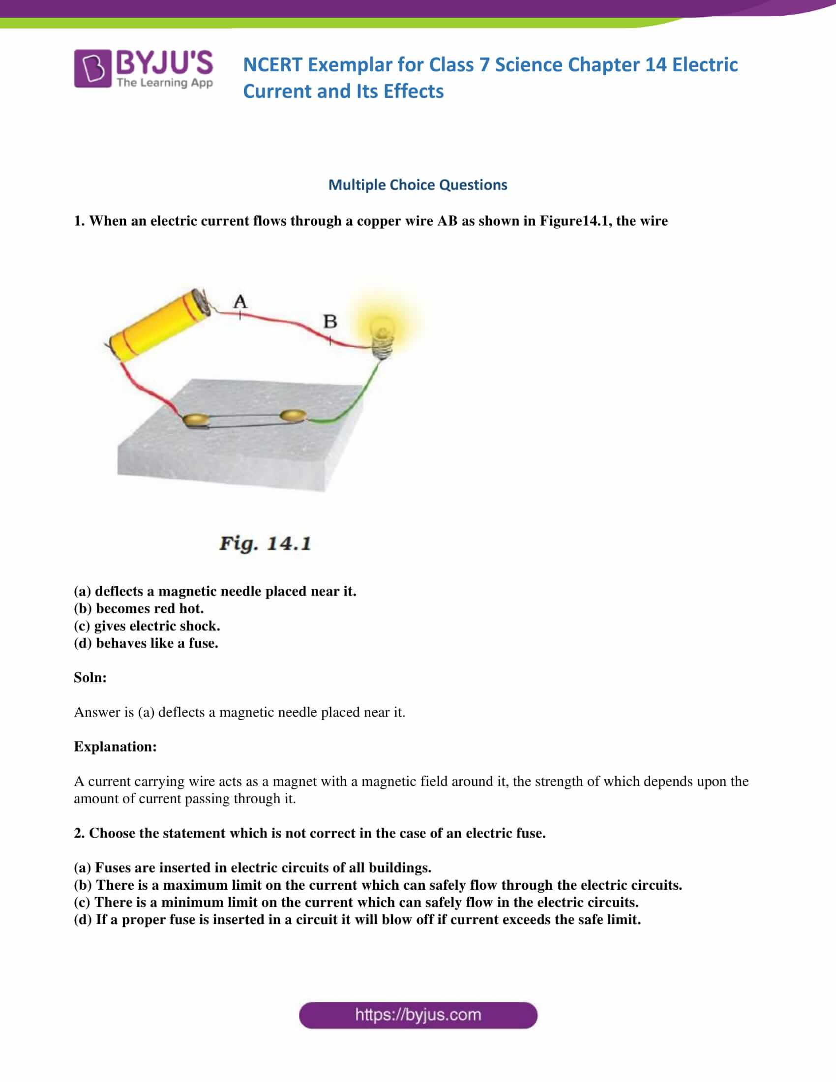 Ncert Exemplar Solutions For Class 7 Science Chapter 14