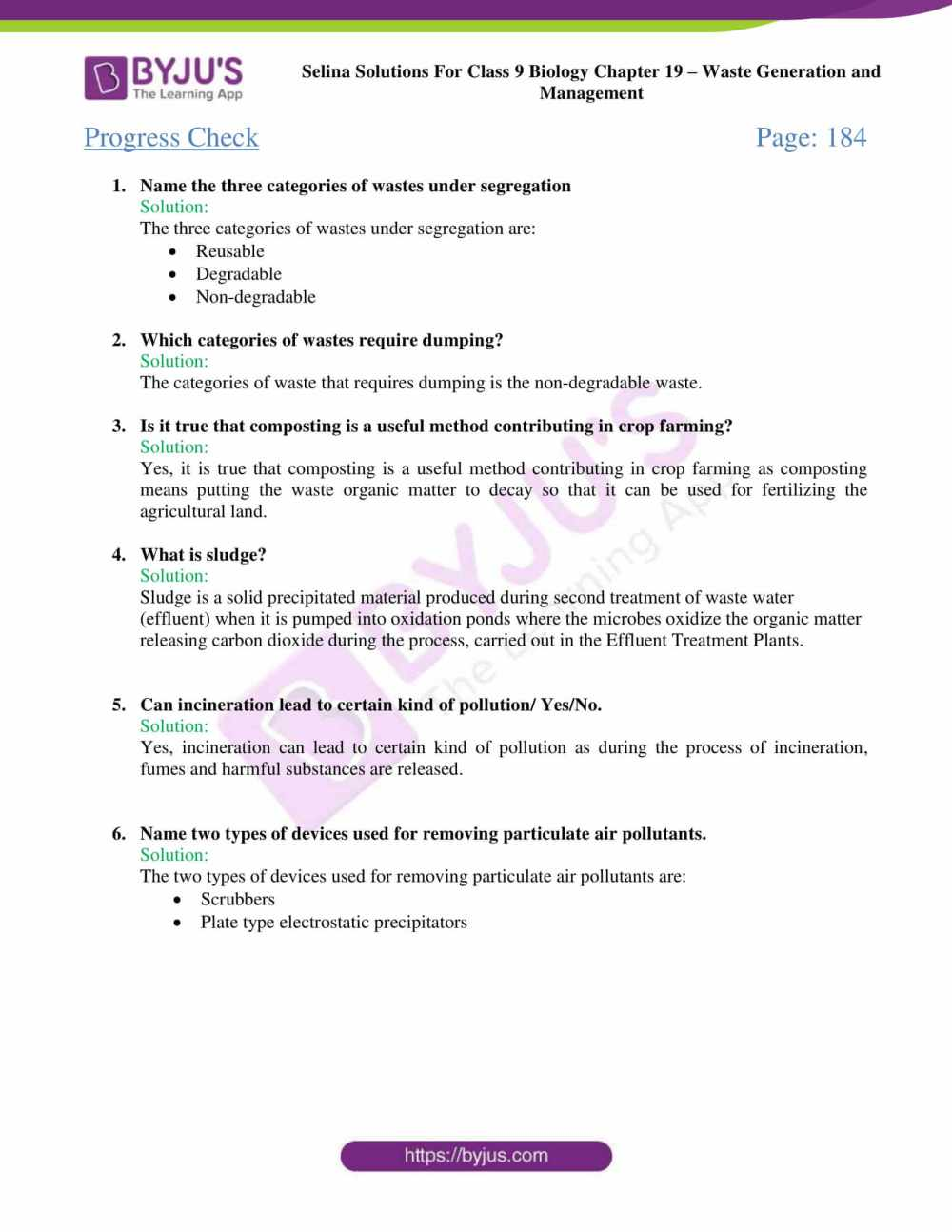 medium resolution of Selina Solutions Class 9 Concise Biology Chapter 19 Waste Generation And  Management -Download Free PDF