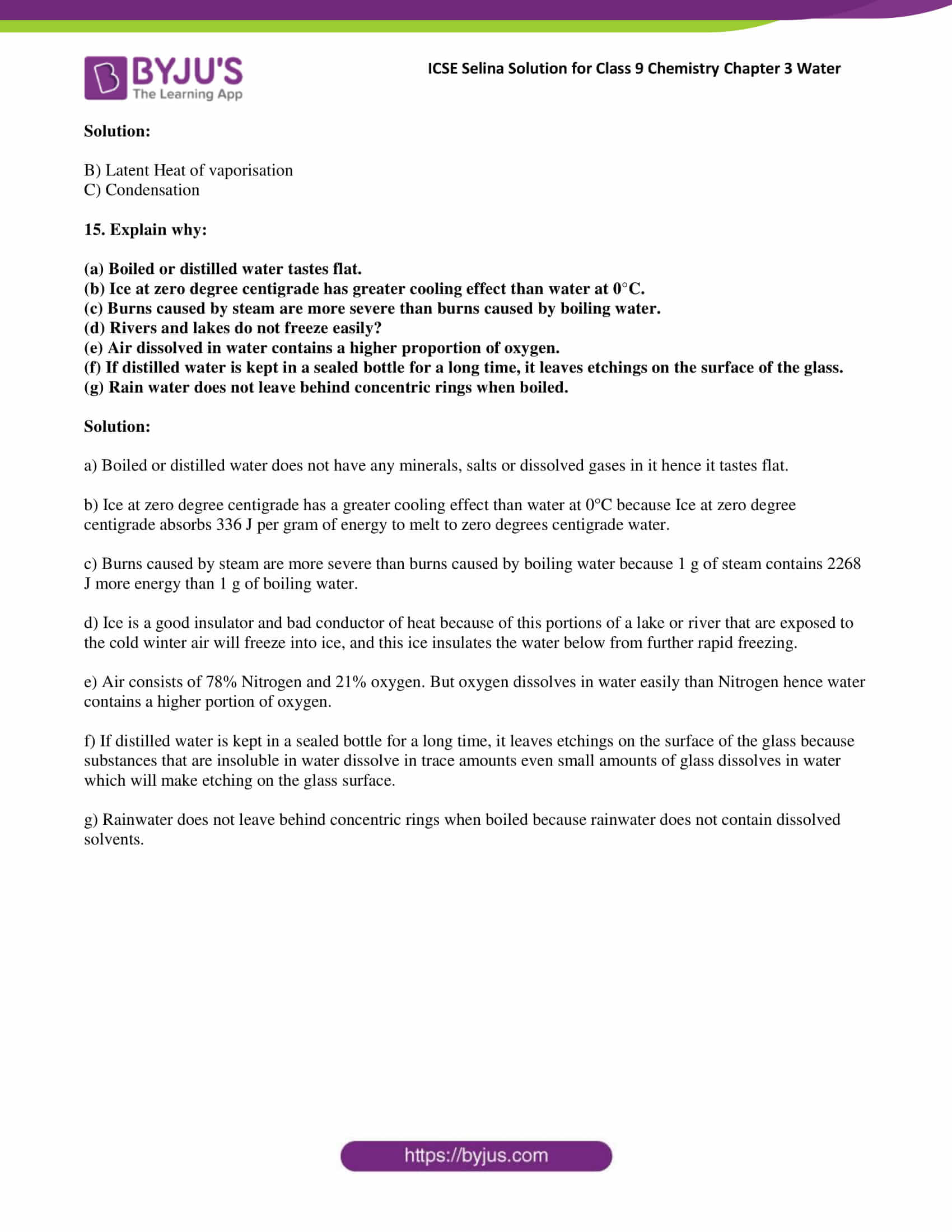 hight resolution of Selina Solutions Class 9 Concise Chemistry Chapter 3 Water -Download Free  PDF