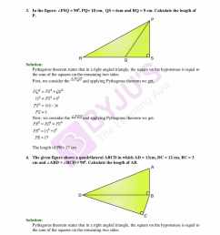 Selina Solutions Class 9 Concise Maths Chapter 13 Pythagoras Theorem  -Download Free PDF [ 2200 x 1700 Pixel ]