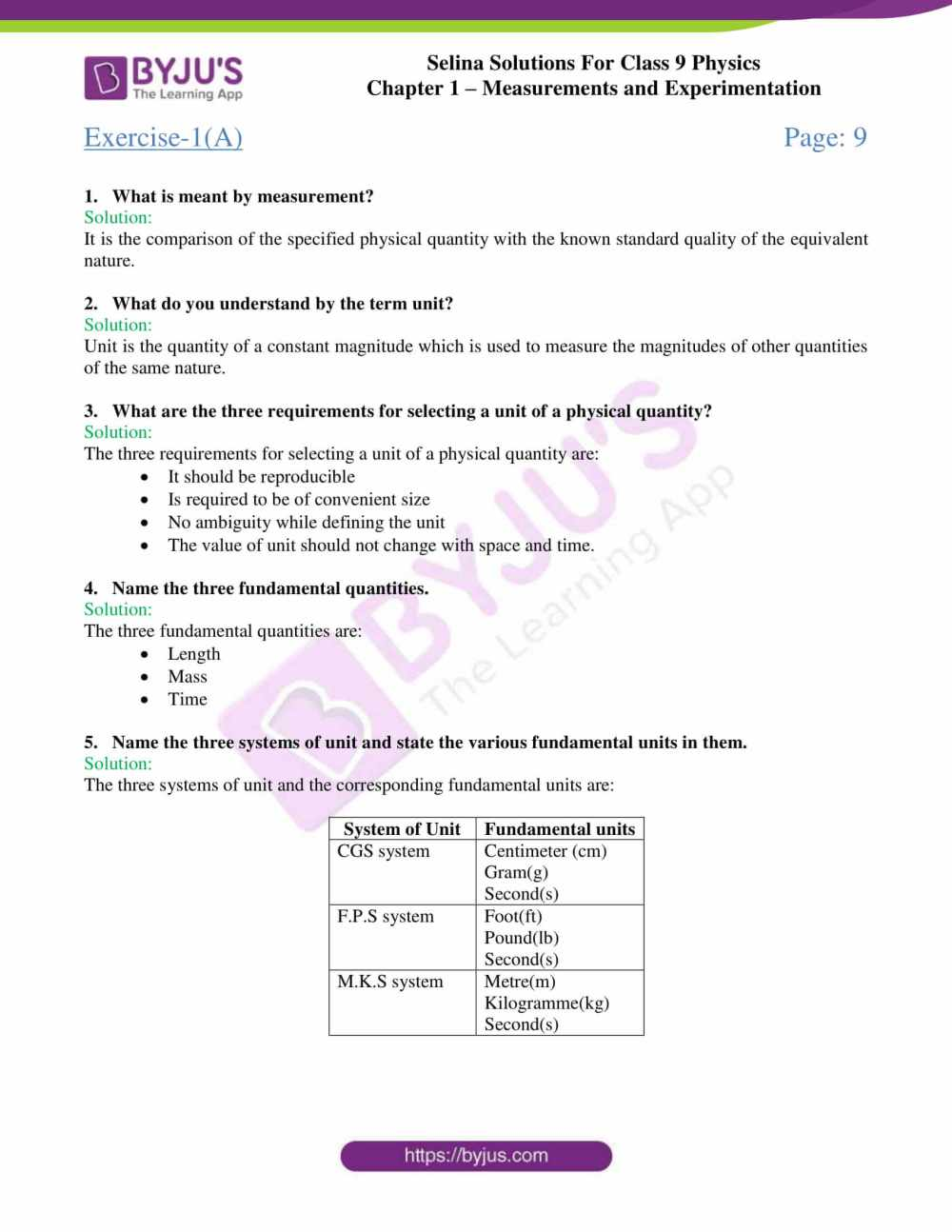 medium resolution of Selina Solutions Class 9 Concise Physics Chapter 1 Measurements And  Experimentation -Download Free PDF