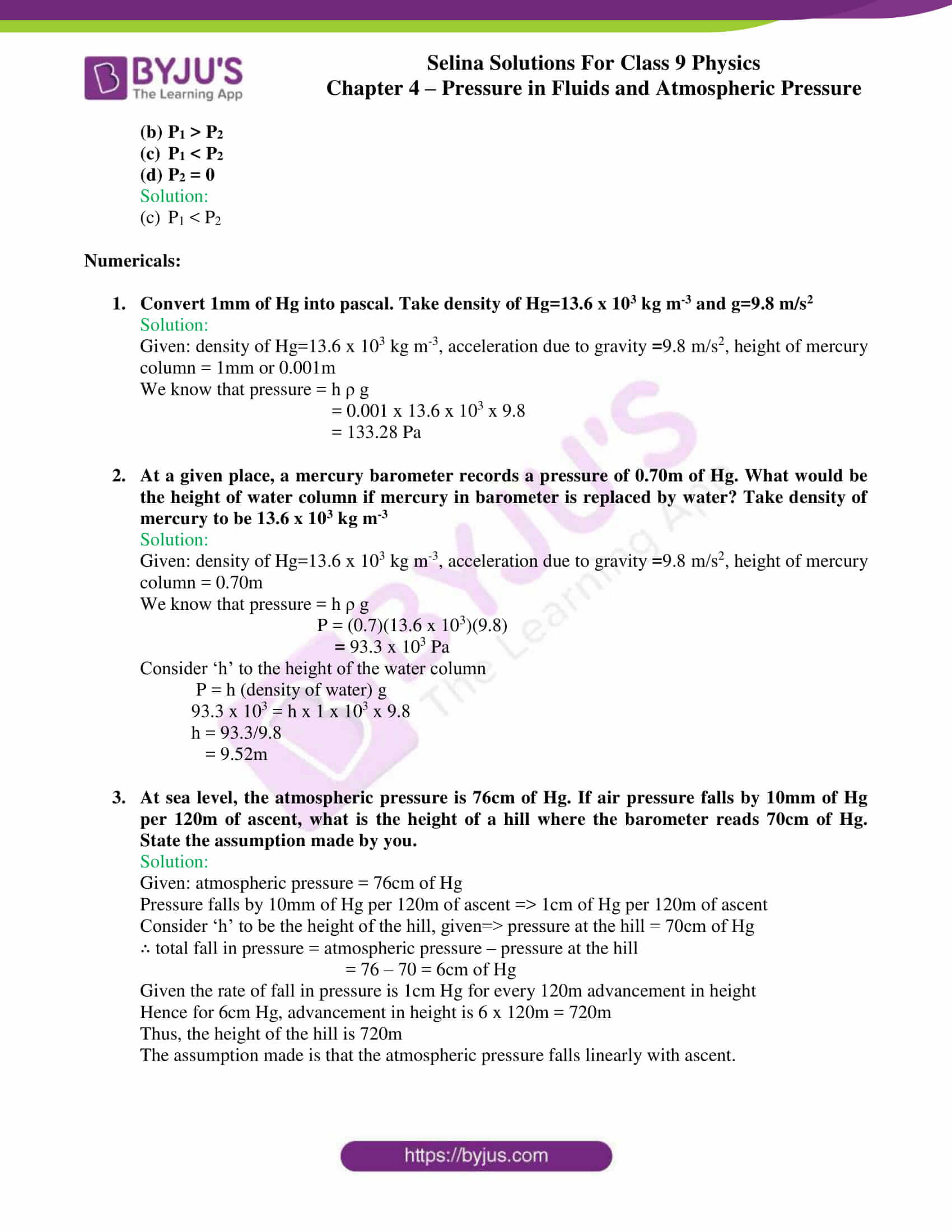 Selina Solutions Class 9 Concise Physics Chapter 4