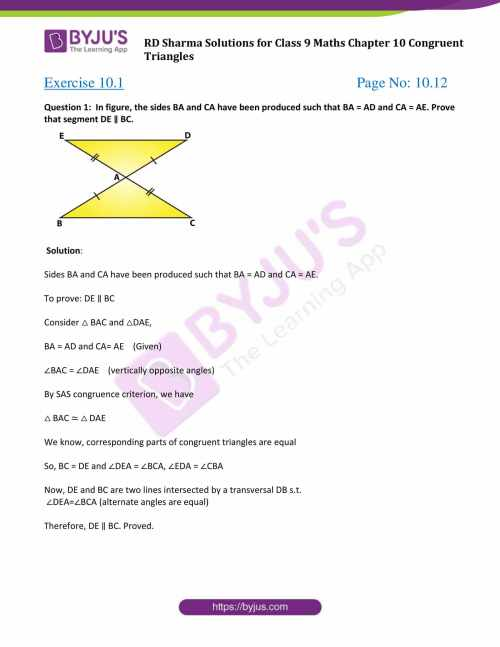 small resolution of RD Sharma Solutions Class 9 Chapter 10 Congruent Triangles - Free PDF